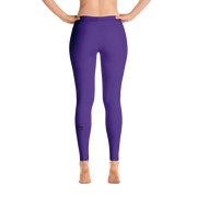 Deep Purple Frenchie Leggings