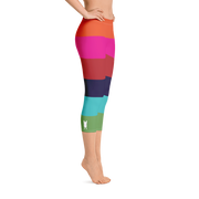 Rainbow Stripe Capri Leggings