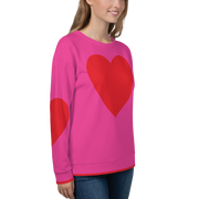 Red heart Sweatshirt - Pink