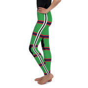 Italia Stripe Kelly with Frenchies Girl's Leggings