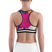 Villa Royale Racer Back Sports bra with Black and white band