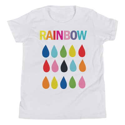 Rainbow Raindrops  Short Sleeve T-Shirt - Youth