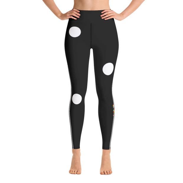 Cookie Dot Yoga Leggings - Black