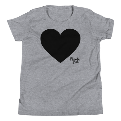 Black Heart Girl's Short Sleeve T-Shirt