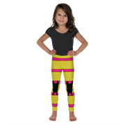Italia Stripe Lemon Kitty Kid's Leggings