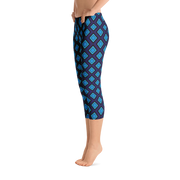 Diamond Blue Capri Leggings