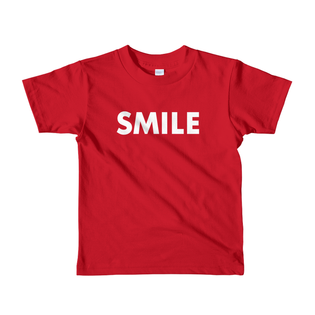 Smile Short sleeve kids t-shirt