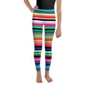 Jelly Bean Stripe Girl's Leggings