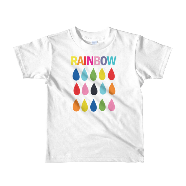 Rainbow Raindrops - Kid's Fine Jersey Short Sleeve T-Shirt