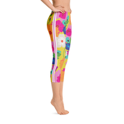 Villa Gold Coast Capri Leggings - Yellow Sunshine