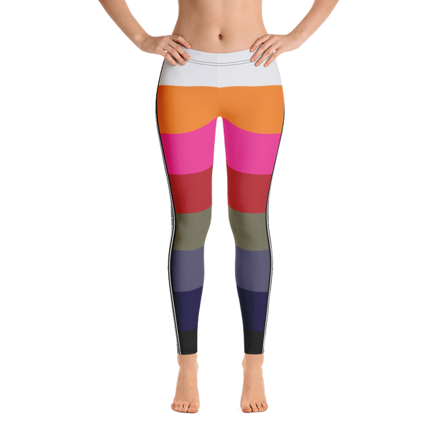 Rainbow-Chic Stripe leggings