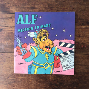 ALF Mission To Mars BOOK Soft Cover Children's Vintage 80s