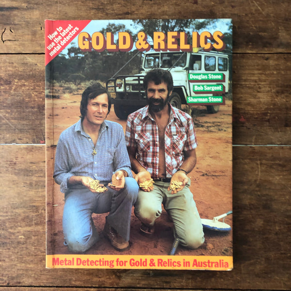 GOLD & RELICS Book Douglas Stone 1980 Vintage 80s Metal Detecting