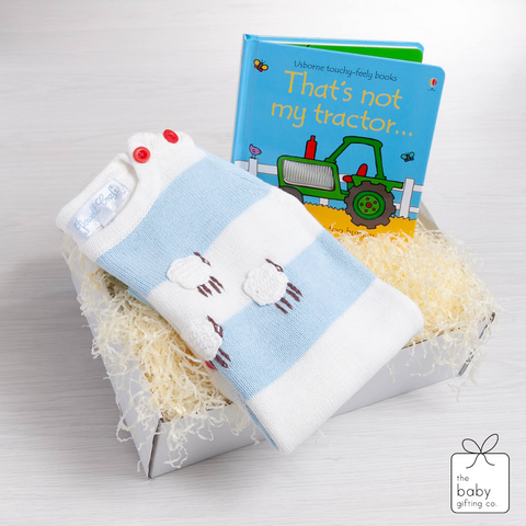 Farm Knitted Playsuit Gift Set | The Baby Gifting Co