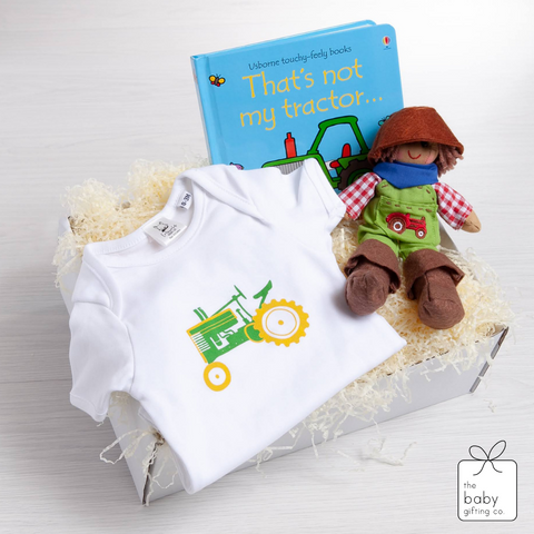 Vintage Tractor Baby Gift-Set | The Baby Gifting Co