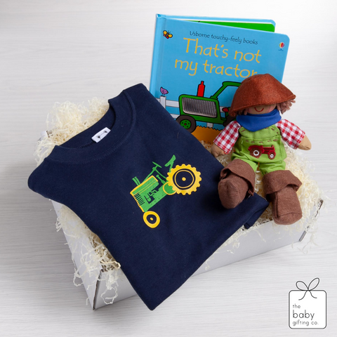 Vintage Tractor T-Shirt Gift-Set | The Baby Gifting Co