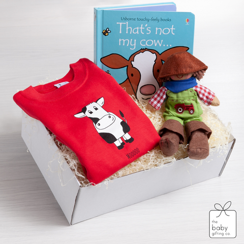 Mooo Cow T-Shirt Gift-Set | The Baby Gifting Co