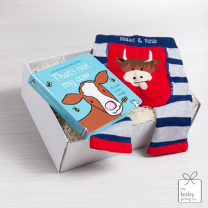 Little Cow Book & Legging Gift Set | the baby gifting co