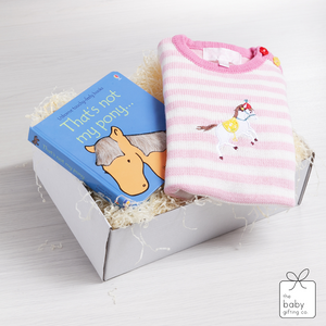 Pony Knitted Playsuit Gift Set | The Baby Gifting Co