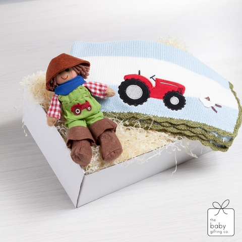 Little Farmer Blanket Gift Set | The Baby Gifting Co