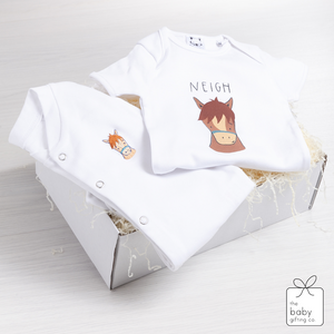 Little Pony Sleepsuit Gift Set | The Baby Gifting Co