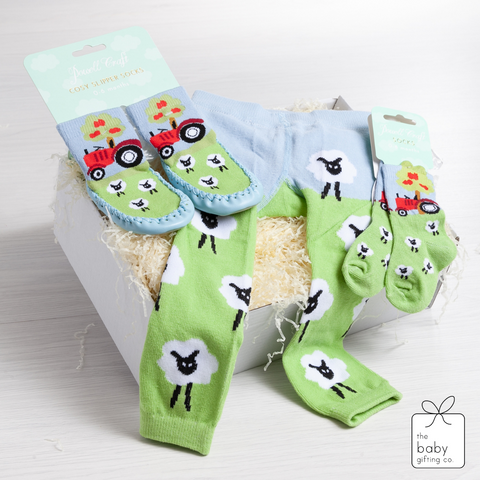 Sheep Leggings, Socks & Slippers Gift Set | The Baby Gifting Co