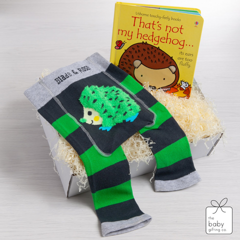 Little Hedgehog Book & Legging Gift Set | the baby gifting co