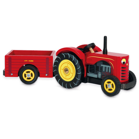 Red Wooden Tractor