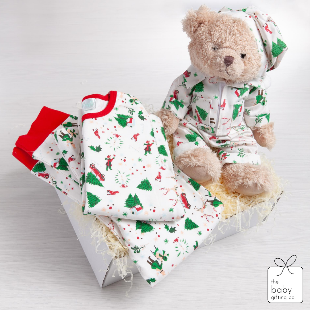 Christmas Pyjama & Bear Gift Set - the baby gifting co