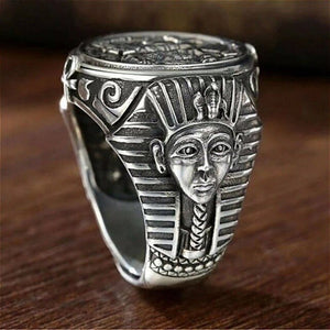 Ancient Egyptian Silver Ring Unisex Jewellery Size 8-15