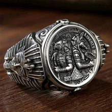Load image into Gallery viewer, Ancient Egyptian Silver Ring Unisex Jewellery Size 8-15
