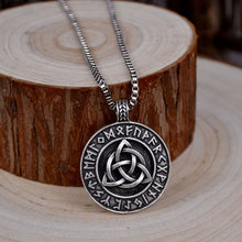 Load image into Gallery viewer, NORSE VIKINGS CELTIC KNOT PENDANT NECKLACE