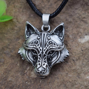CELTICS WOLF HEART NECKLACE PENDANT