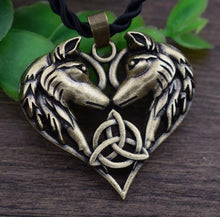 Load image into Gallery viewer, CELTICS WOLF LOVE PENDANT