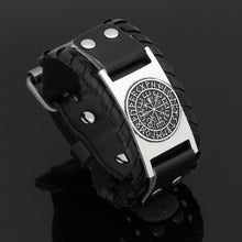 Load image into Gallery viewer, NORDIC ODIC VIKING LEATHER AMULET BRACELET