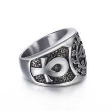 Load image into Gallery viewer, EGYPTIAN EYE OF HORUS CROSS OF LIFE RING
