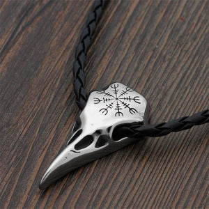 STAINLESS STEEL CROW SKULL NECKLACE