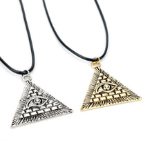 Load image into Gallery viewer, EGYPTIAN PYRAMID EVIL EYE NECKLACE