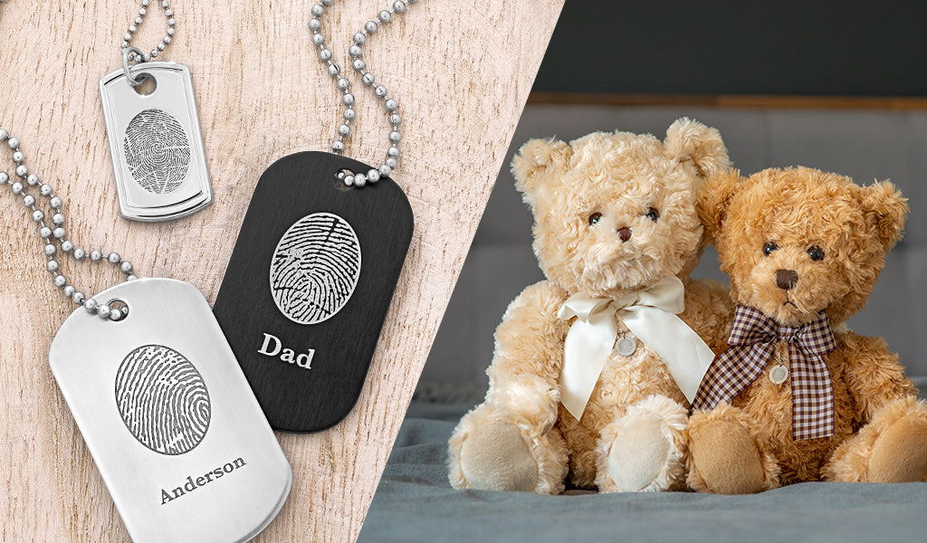 Stay connected to a deployed Loved One with Fingerprint Keepsakes from Legacy Touch