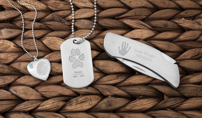 Meaningful Jewelry and Keepsakes Personalized with a Unique Print