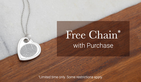 free chain with pendant purchase - limited time offer