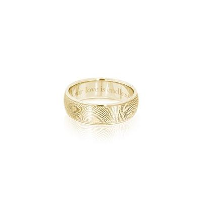 Sample - 6mm Half Round Ring YBR Gold Plated - Size 9.5