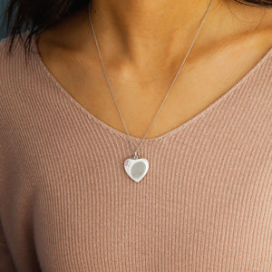 Fingerprint Jewelry Heart Cremation Urn Pendant