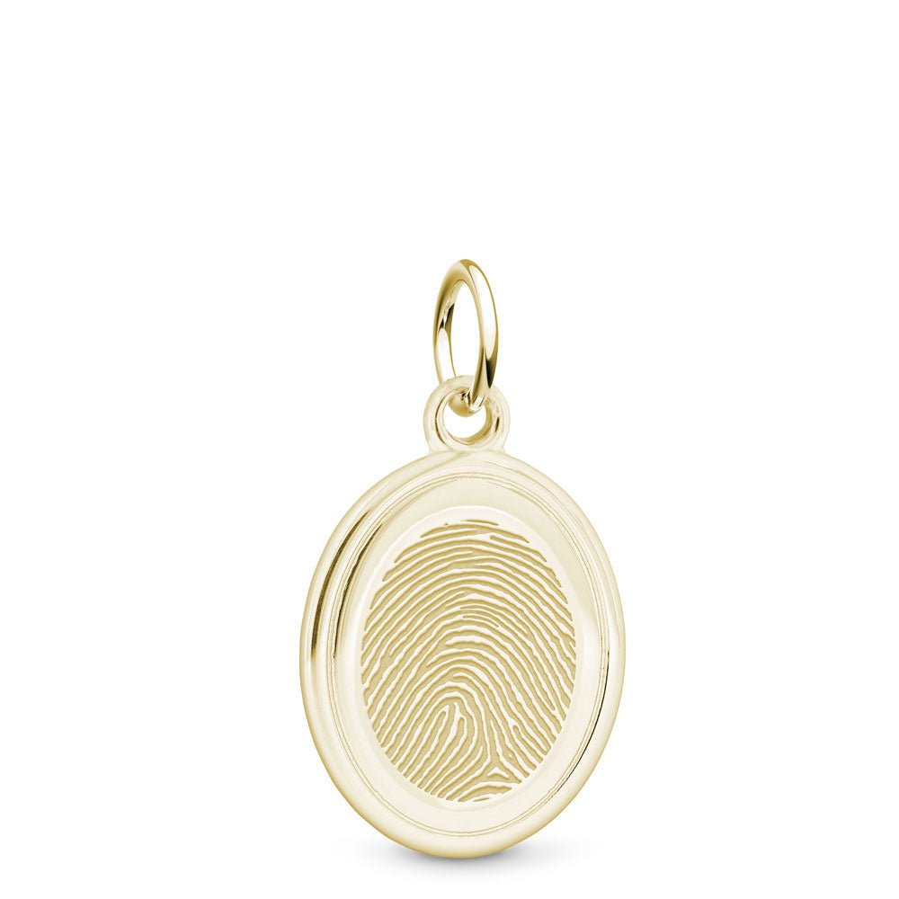 14k Yellow Gold Oval Charm