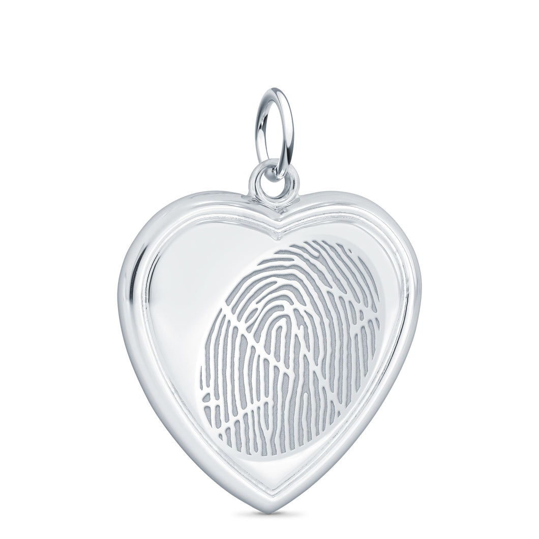 Sterling Silver Vertical Heart Pendant