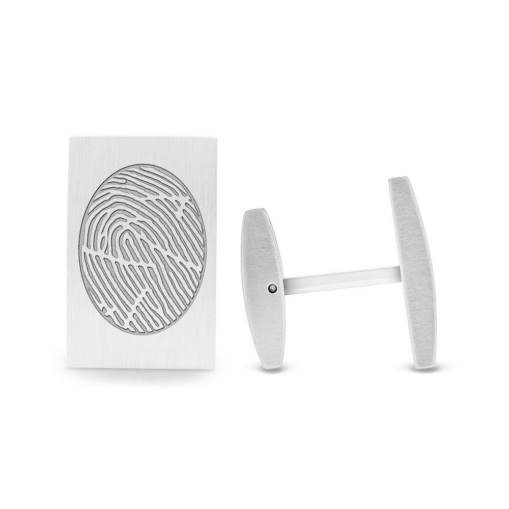 Fingerprint Keepsake Stainless Steel Cufflinks