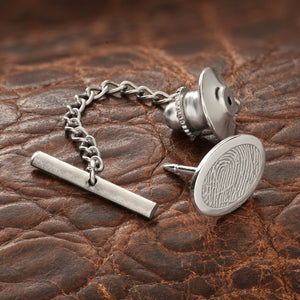 Sterling Silver Fingerprint Keepsake Tie Tack