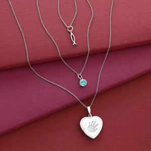 Sterling Silver Pendant Trio Necklace