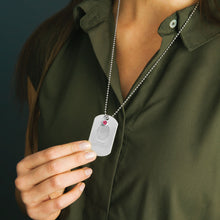 Fingerprint Jewelry Military Dog Tag