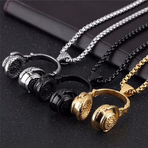 Beat Headphones Necklace - Allys Select